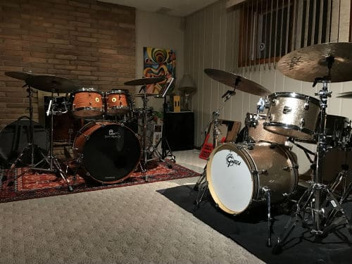 place the drums in the basement