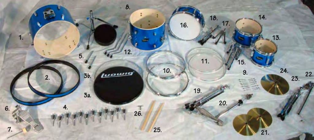 Ludwig jr drum set package