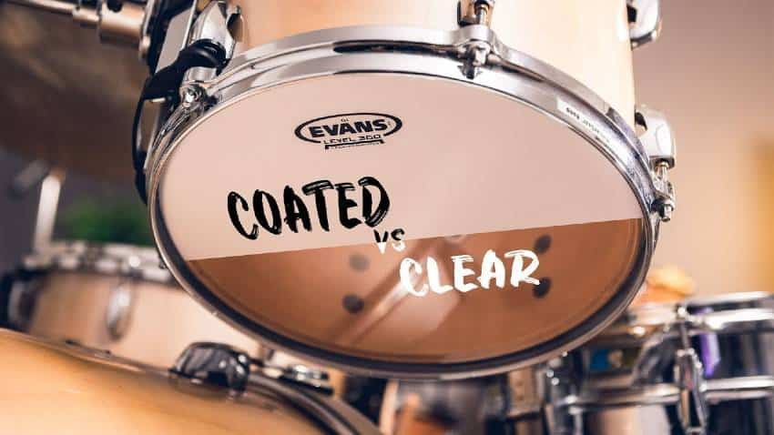 coated vs clear drum head